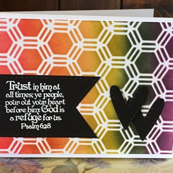 Kim Schofield CAS card TCW346 Honeycomb