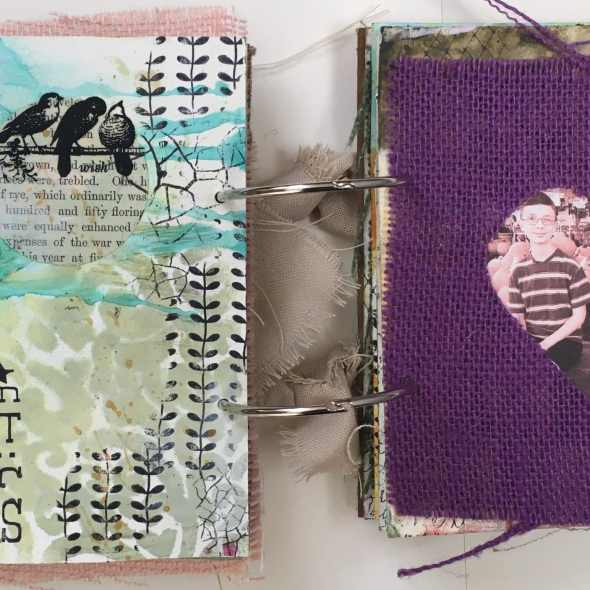 Kim Schofield, TCW, Canvas Corp, Mini Album, Page 5