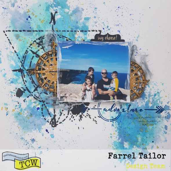 farrel tailor scrapbooking layout