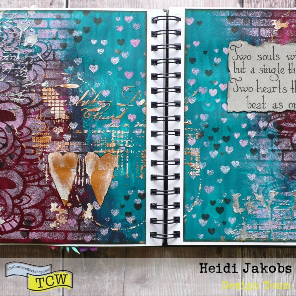 How to create a fun art journal page using color mixing theory