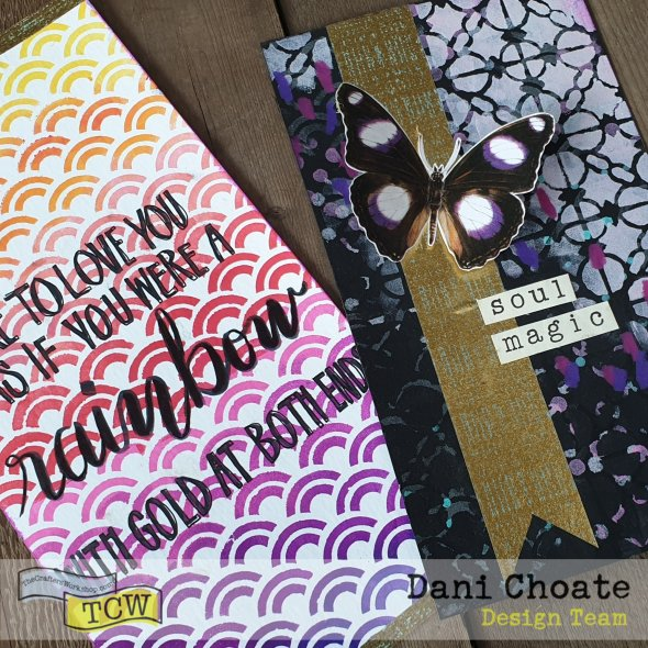 journaling cards with stenciling