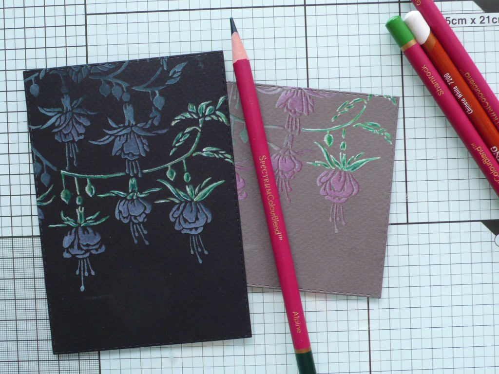 Step by step tutorial on how to create stunning fuchsia greeting cards