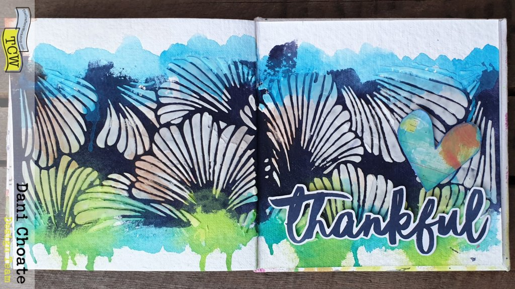 full art journal page TCW924 - Lush Petals