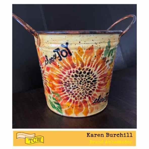 Karen Burchill Sunflower Bucket