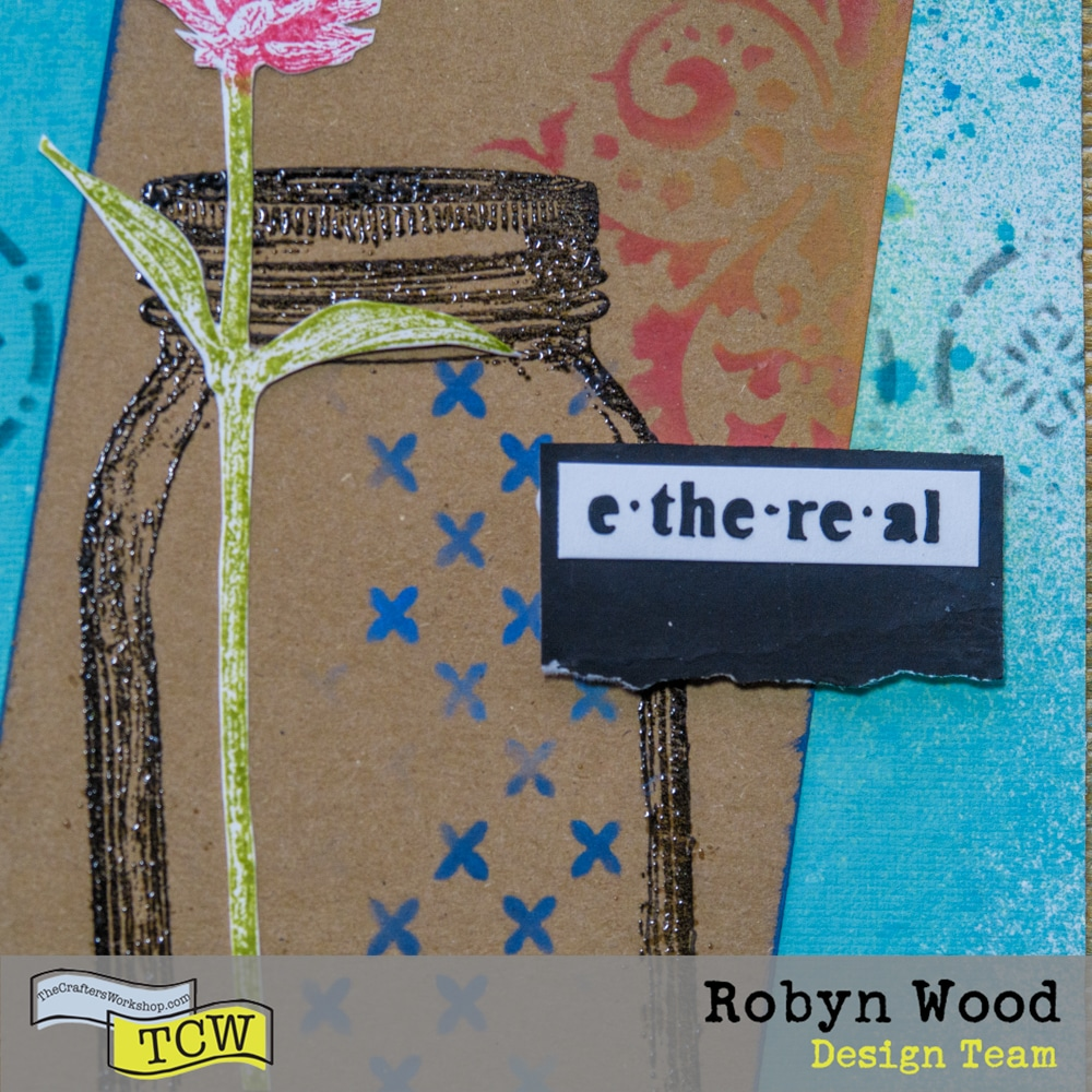 The Crafter's Workshop Blog – Light and Delicate Art Journal Page – stencilled art journal page by Robyn Wood