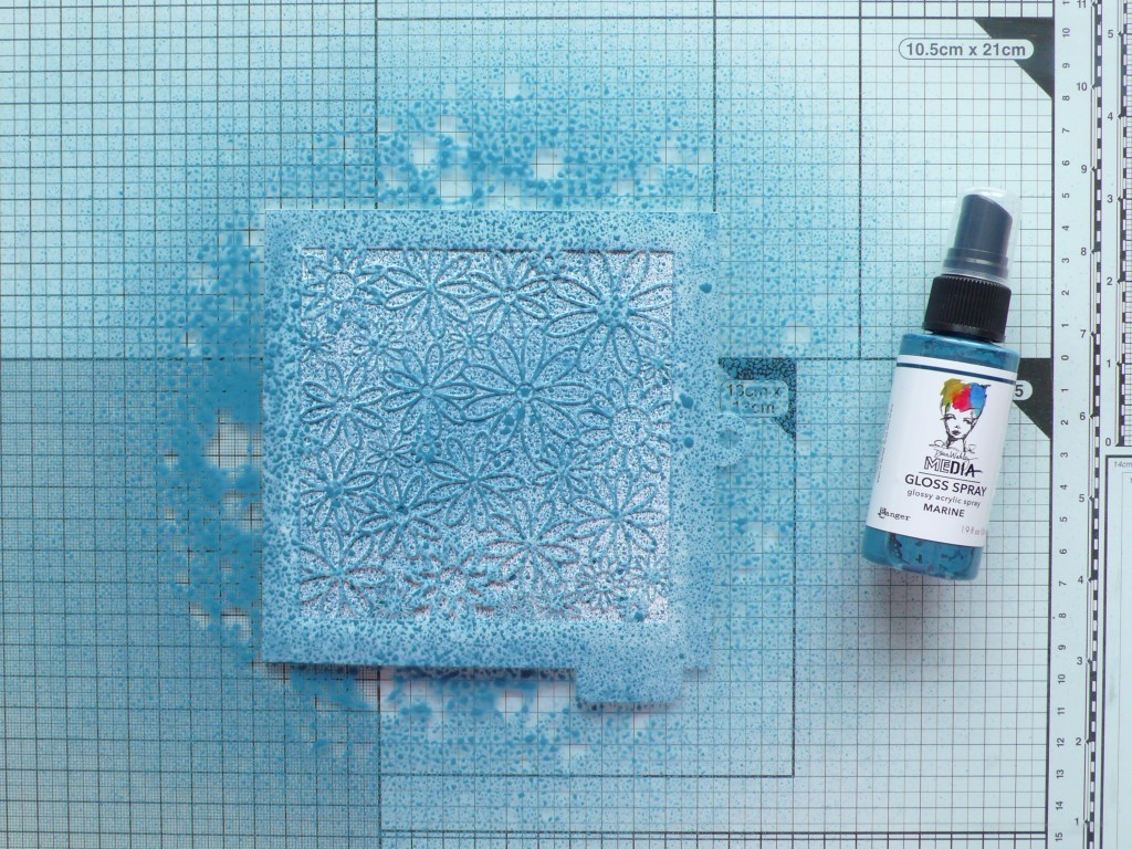 Step by step tutorial on how to create a resist background using acrylic sprays