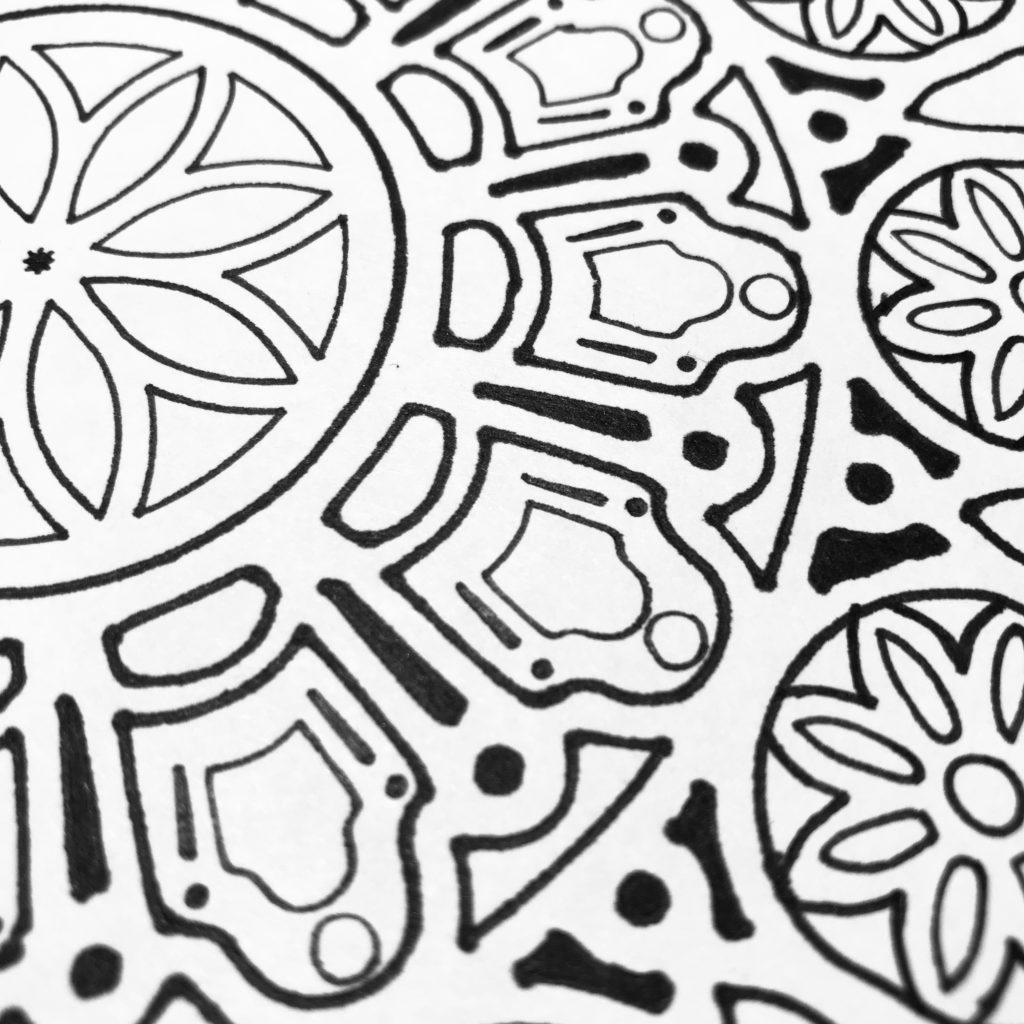 6x6 TCW873 Orb Mandala Stencil through 12x12 TCW873 Orb Mandala Stencil