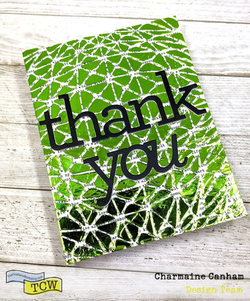Thank you foiled card made with TCW 901S