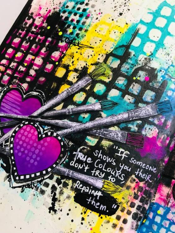 """quote """"If someone shows you  to their true colors, don't try to repaint them"""""""