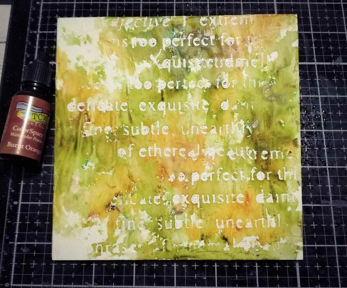 Background stenciling