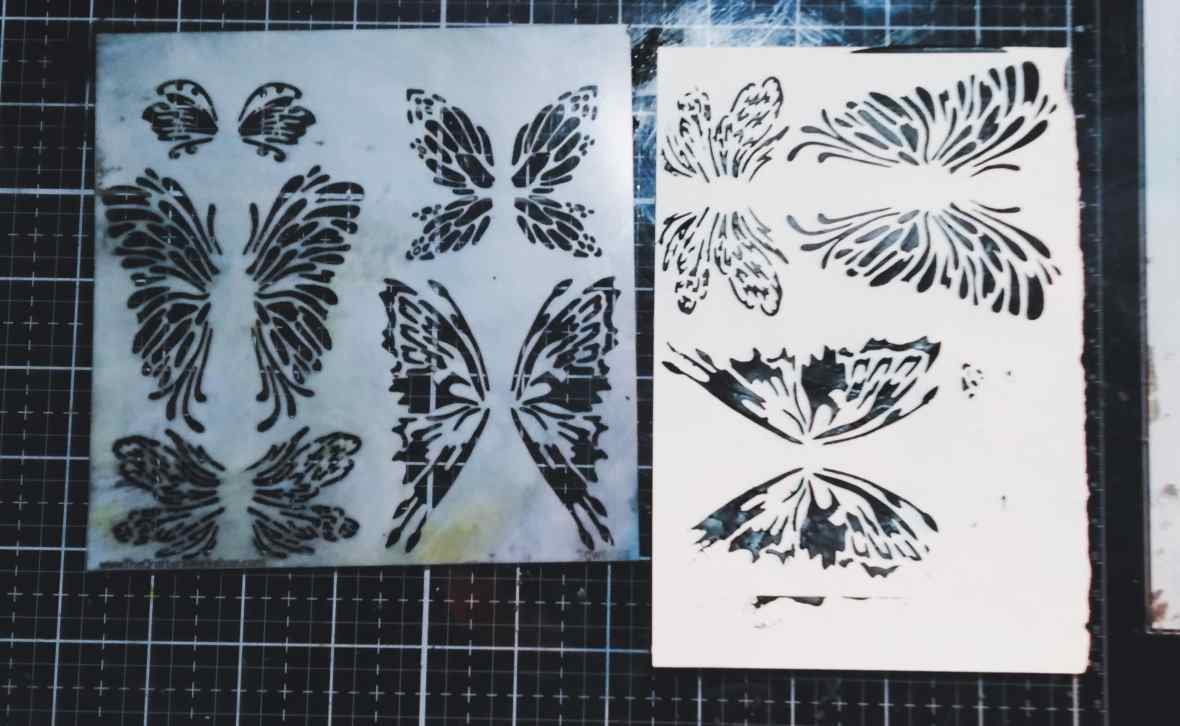 Applied black modeling paste through the TCW stencil