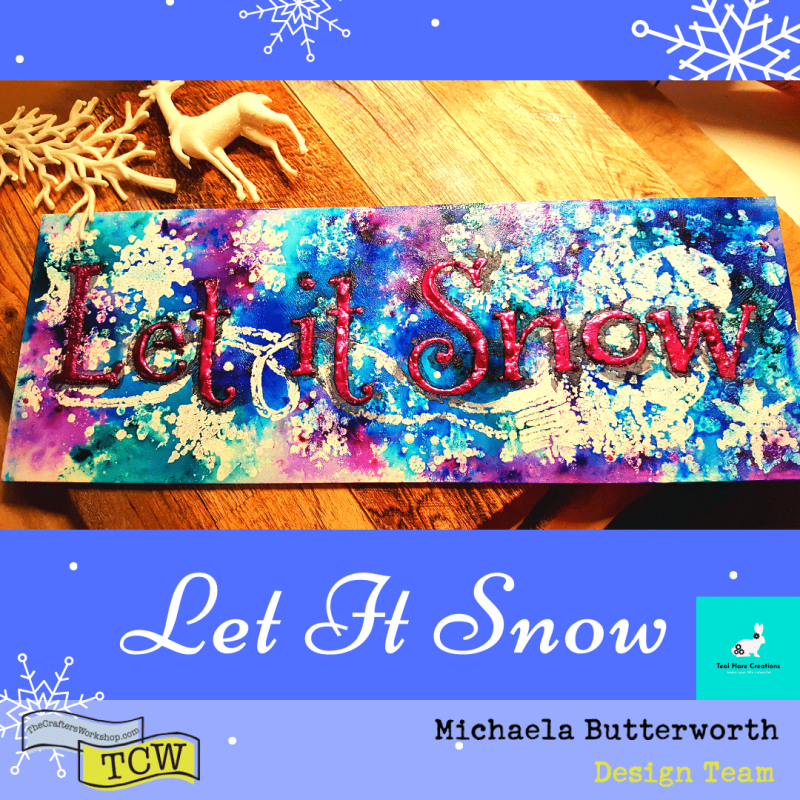 Image showing the completed Let It Snow artwork.