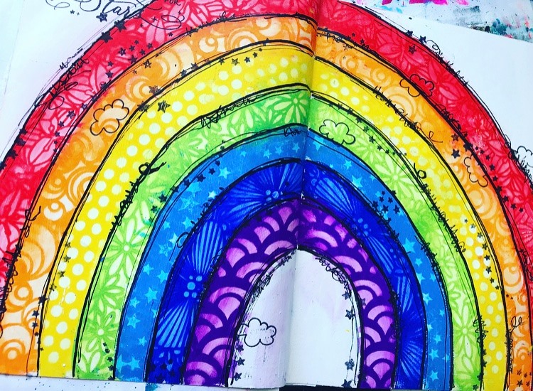 rainbow art journal