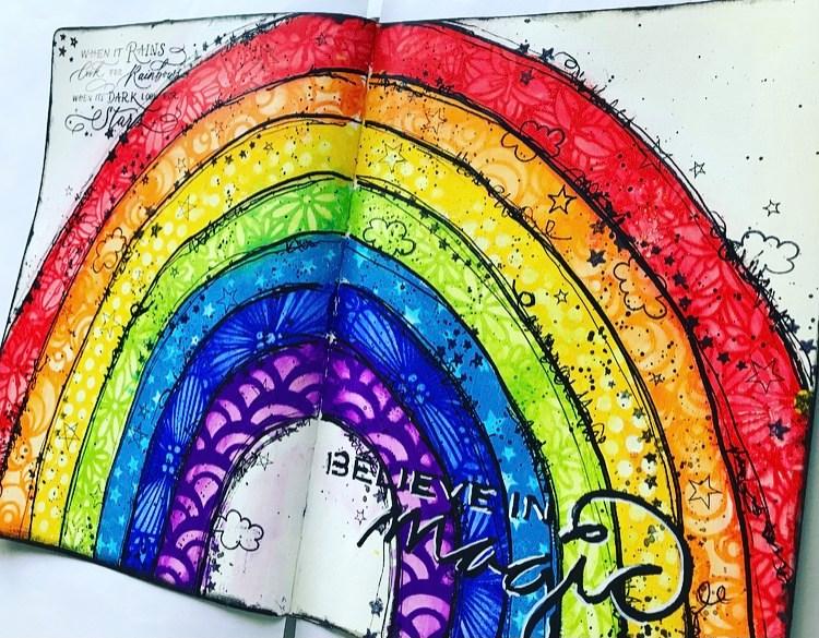 Art Journal rainbow