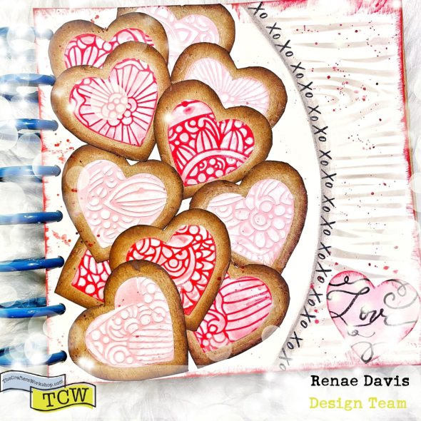Cardboard Coated Cookies Craft Tutorial by Renae Davis