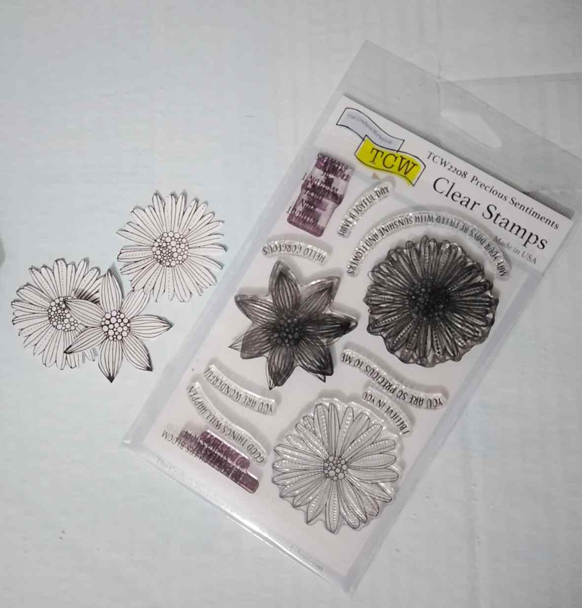 Art stamps, clear stamps, the Crafter's Workshop, mixed media project