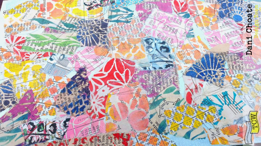 background stencilled papers