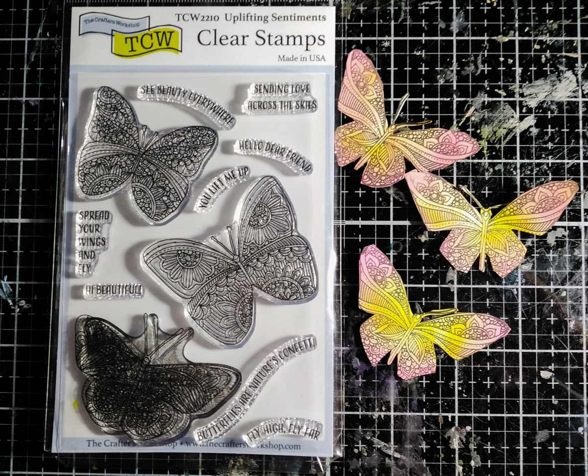 Clear stamps, the Crafter's Workshop stamps, butterfly