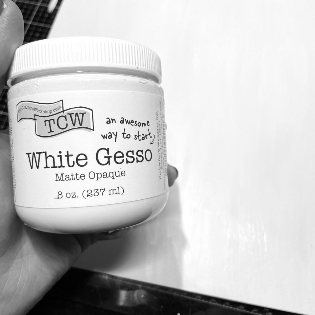 TCW 9001 White Gesso on TCW9054 Mixed Media Board 12x12