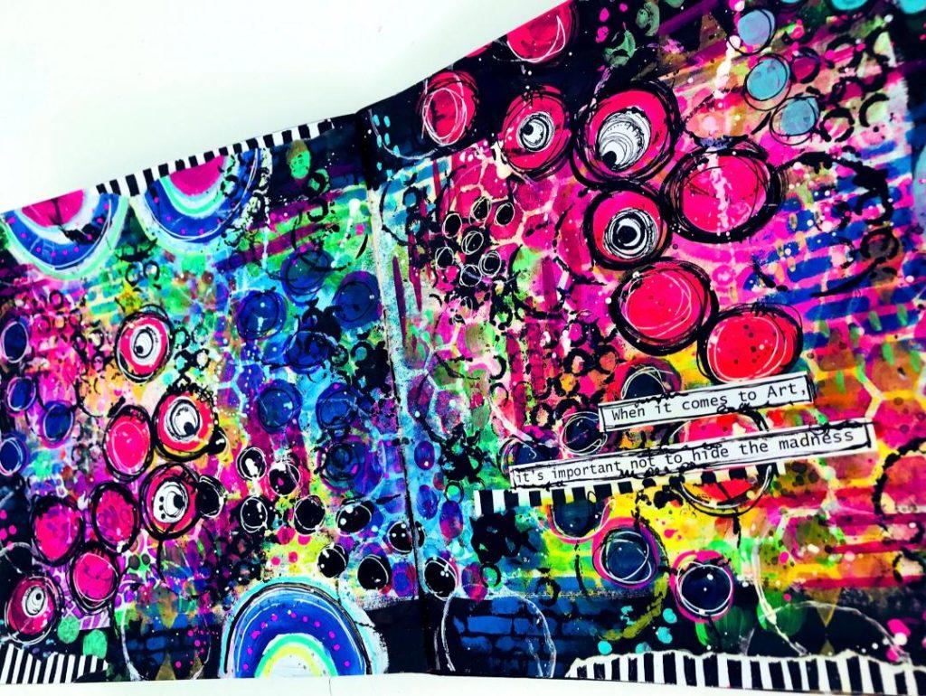 graffiti wall grungy finish art journal page