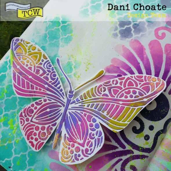 TCW933 - Joyous butterfly TCW833 - Fantastical Art Journal Page