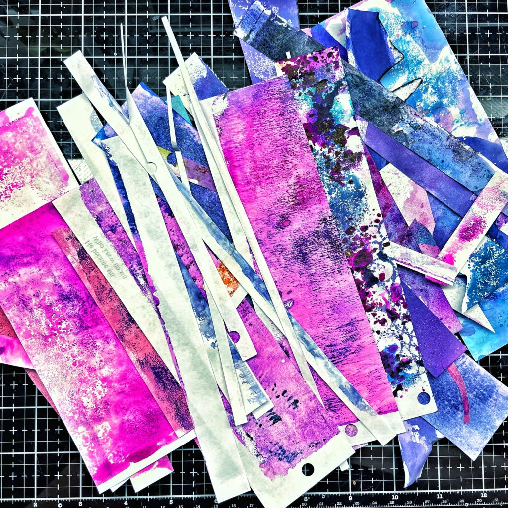 color matching color scrap papers