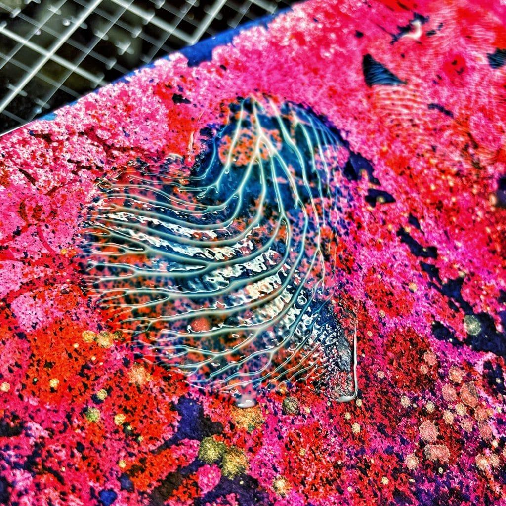 gloss gel medium texture gel print