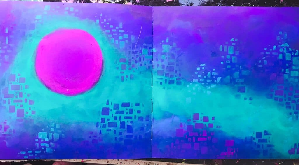 background layer of art journal