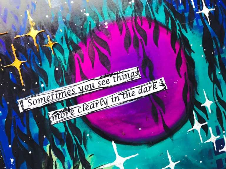 quote over the moon reads sometimes you see things more clearly in the dark