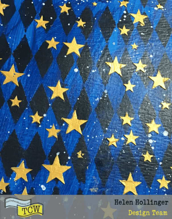 Closeup of the background so far.