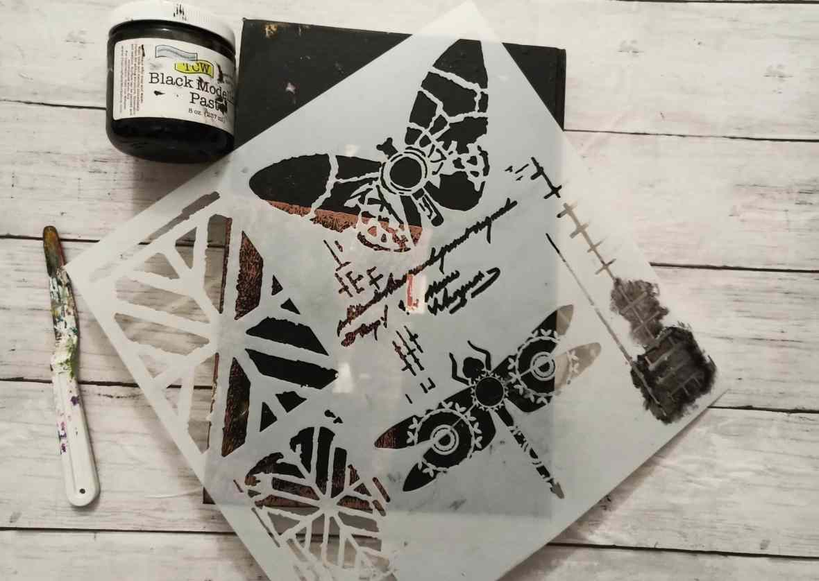 The Crafter's Workshop stencils and modeling paste