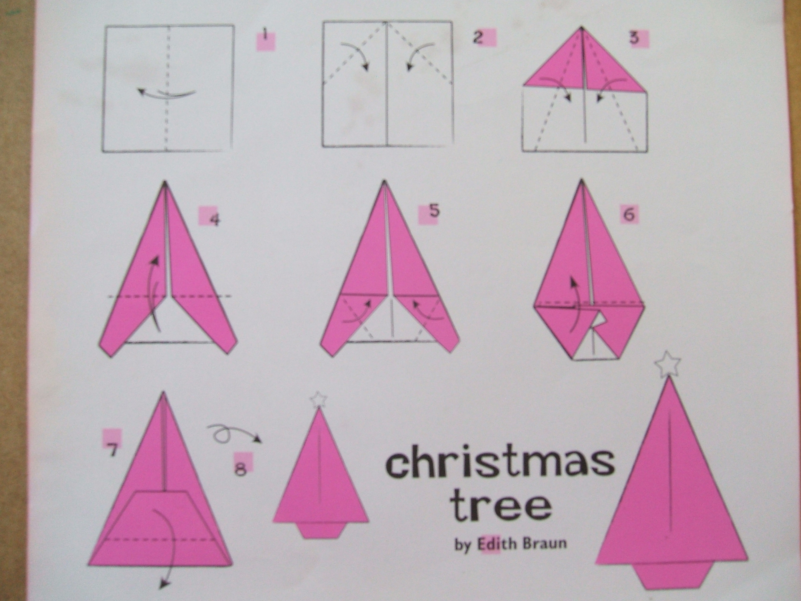 Simple origami Christmas trees | The Craft Fantastic