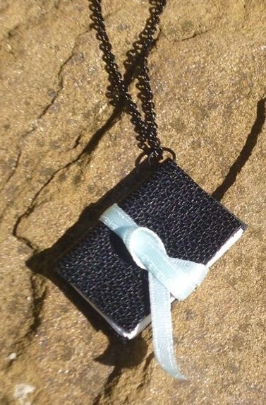 Mini notebook necklace