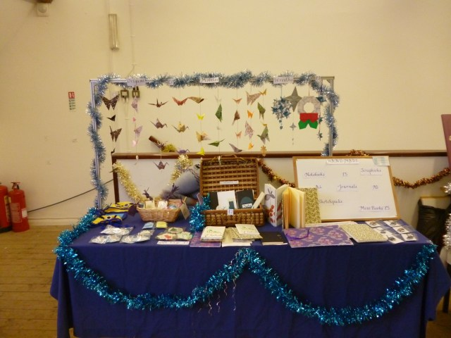 Craft stall set up