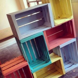 Coloured crates