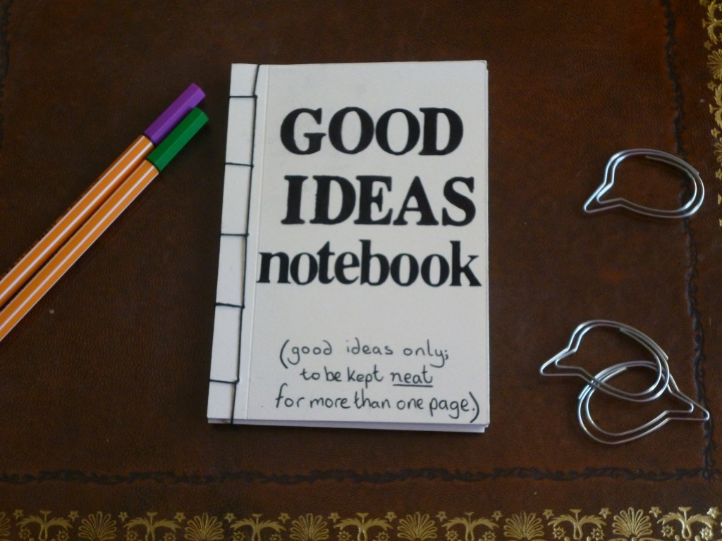 Hand bound good ideas notebook