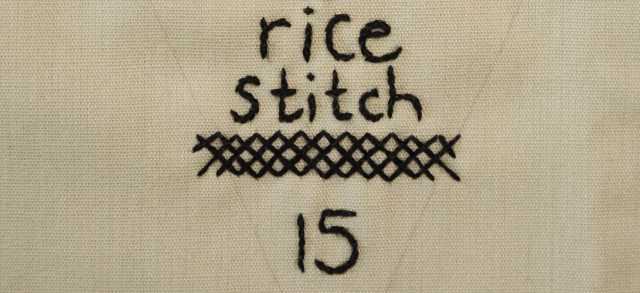 TAST: rice stitch
