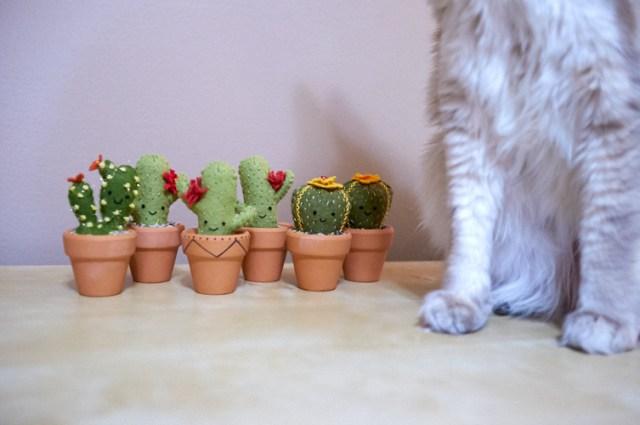 mini felt cacti
