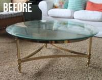 Brass Coffee Table Makeover - thecraftpatchblog.com