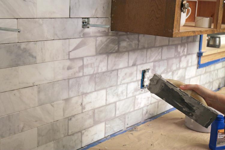 diy marble subway tile backsplash tips