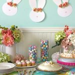 Easy Easter Table Decor And A Floral Crown Easter Bunny Garland