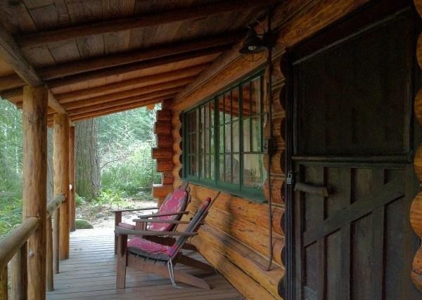 Hand-hewn Log Cabin In Foothills Of Oregon Mount