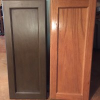 Annie Sloan dark chocolate brown master bathroom cabinet