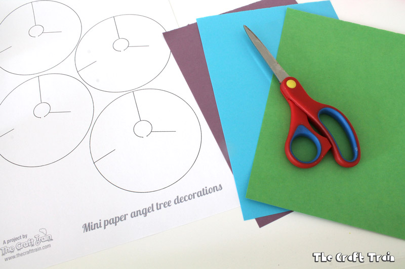 mini paper angel template
