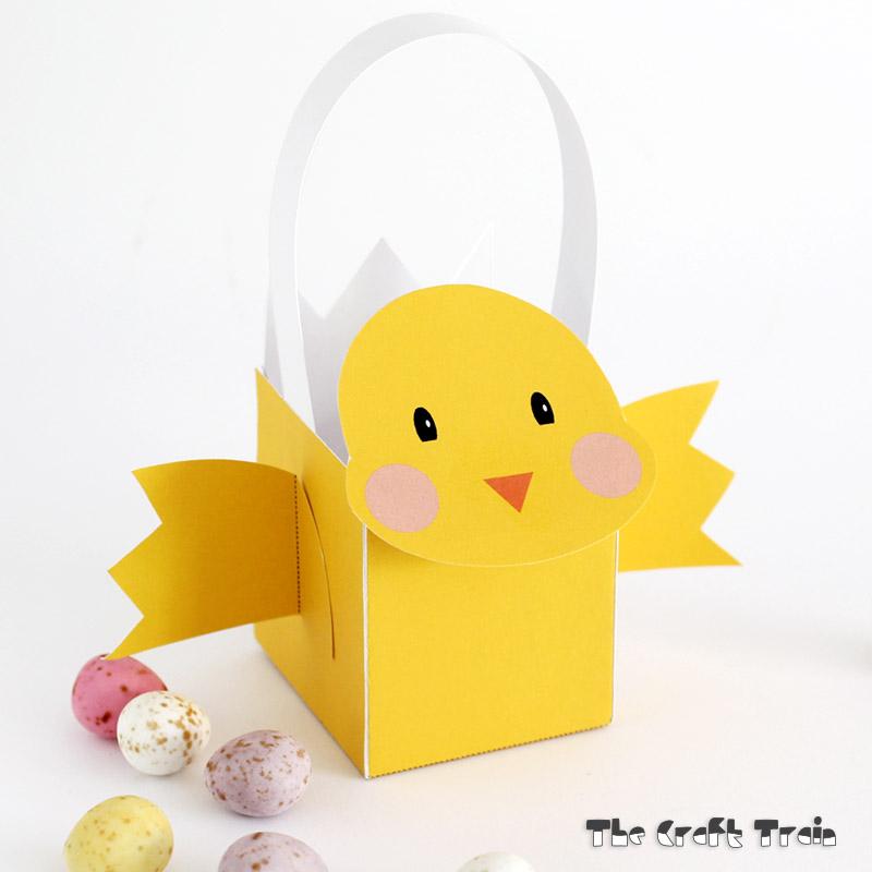 Printable Easter Chick Basket