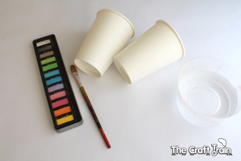 Paper cup telephones - painting