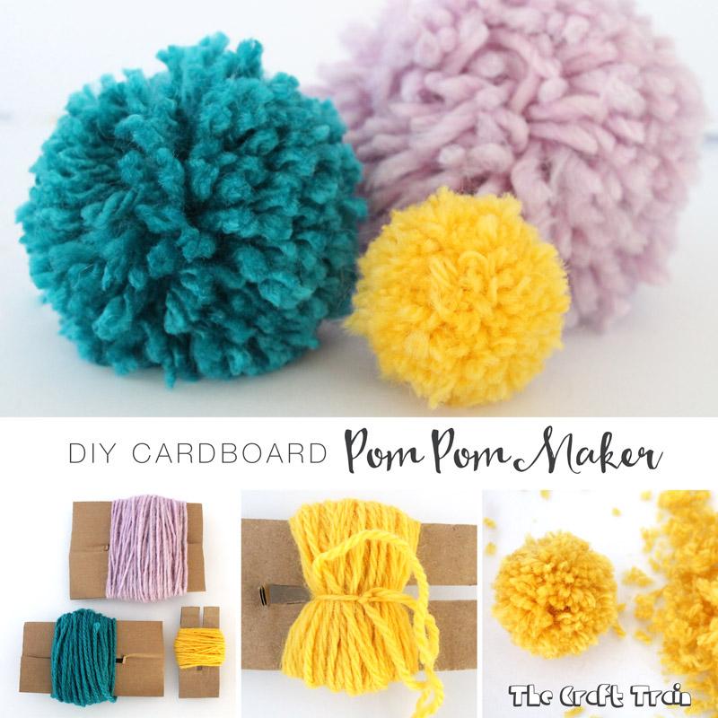 DIY pom pom maker