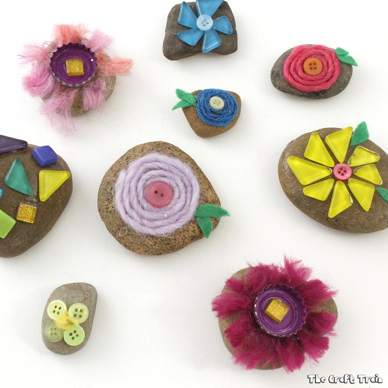 Flower Stones nature craft
