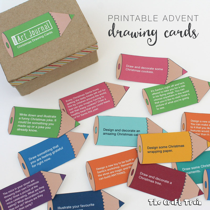 Printable Advent Drawing Prompt Cards