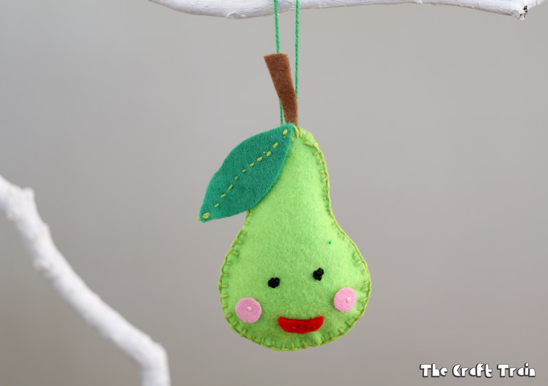 hand-sewn Christmas felt ornament